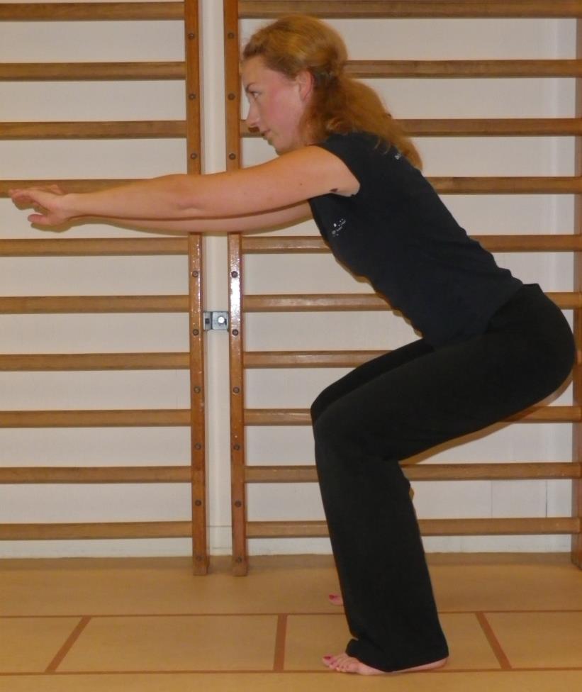 Knie spierversterkende oefening 2: Squat