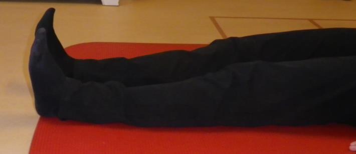 Lage rug en bekken mobiliteit oefening 5: Been verlengen - 1