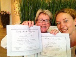 Marjos en Renske met hun Dry Needling certificaat