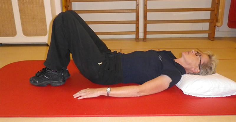 Basishouding voor oefeningen in ruglig